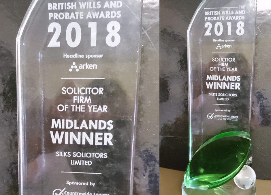 Silks Wins Prestigious British Wills and Probate Award
