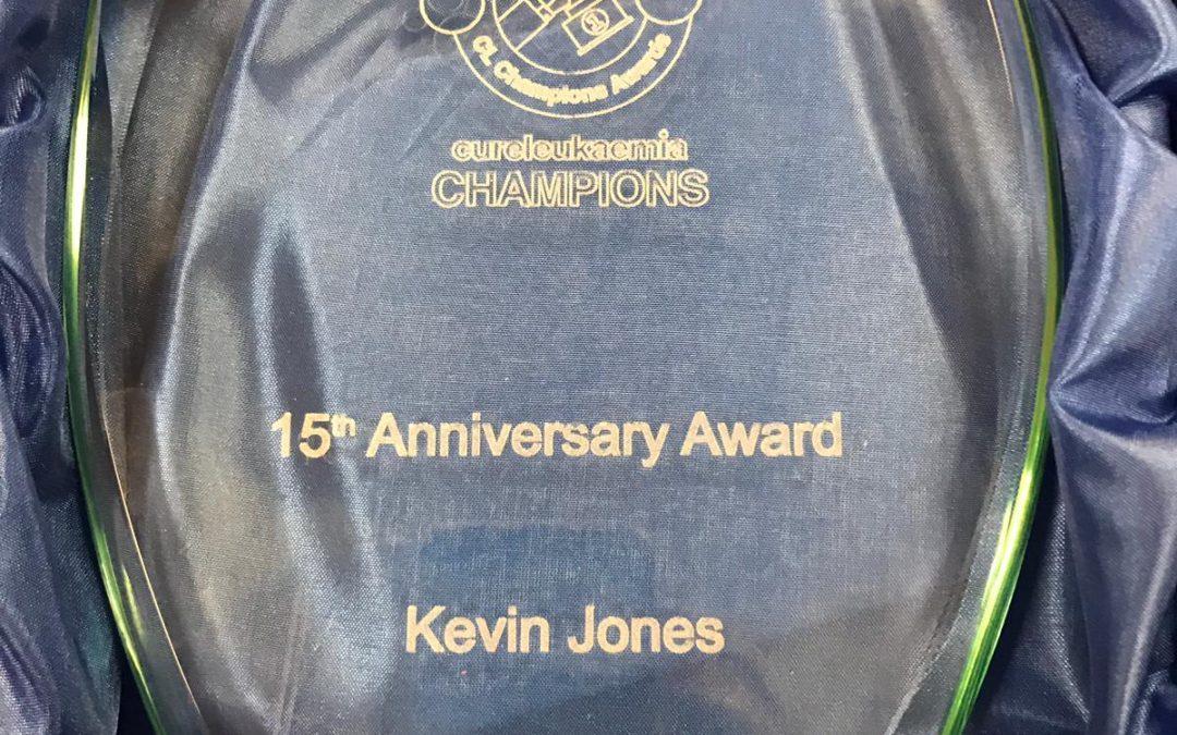 Cure Leukaemia 15th Anniversary Accolade Awarded to Kevin Jones