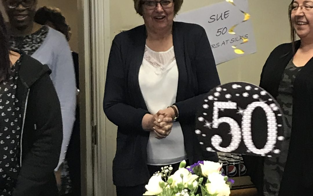 Congratulations Sue on a fantastic 50 years!!